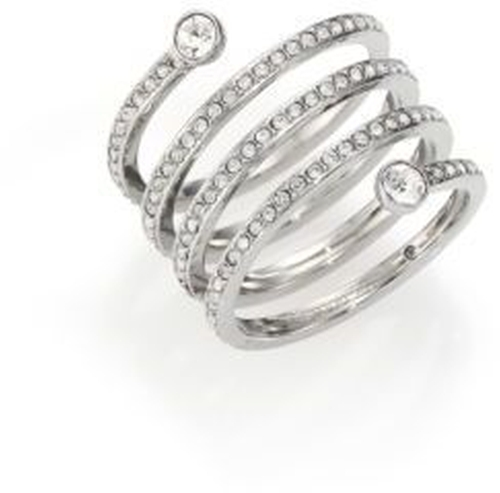 Park Avenue Glam Pavé Spiral Ring by Michael Kors in Creed