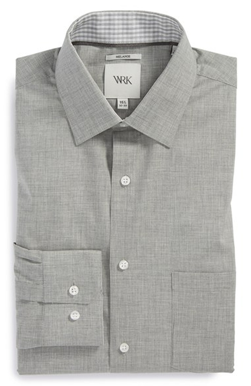 Extra Trim Fit Mélange Dress Shirt by W.R.K in The Spy Who Loved Me
