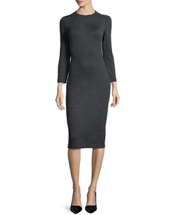 Ekundayo Long Fitted Knit Sheath Dress by Theory in Suits