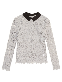 Contrast Collar Daisy Lace Top by Self Portrait in The Bachelorette