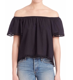 Odeaon Ruffle Off-The Shoulder Top by McGuire in Fuller House