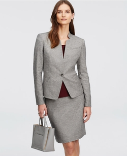 Geo Tweed Jacket by Ann Taylor in Billions