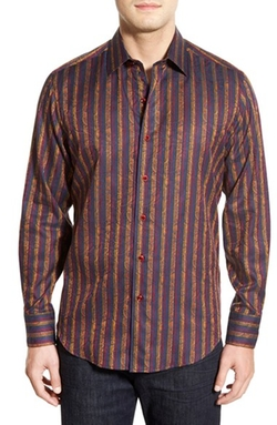 Stripe Sport Shirt by Robert Graham in Nashville