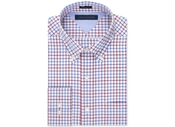 Easy Care Purple Multi Open Check Dress Shirt by Tommy Hilfiger in The Mindy Project