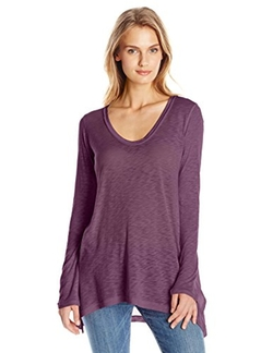 Women's Slub V-Neck Long Sleeve Tunic Top by Splendid  in The Flash