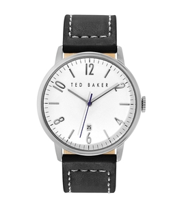 Stainless Steel Leather Watch by Ted Baker in Side Effects