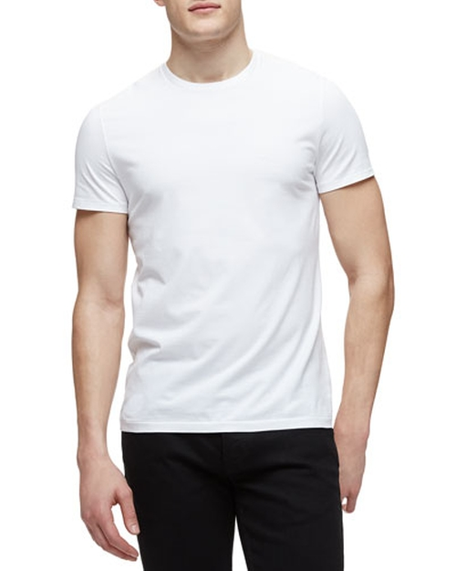 Short-Sleeve Crewneck Pique Tee Shirt by Burberry Brit in Ballers