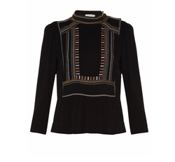 Cerza Embroidered Crepe Top by Isabel Marant Étoile in Pitch Perfect 3