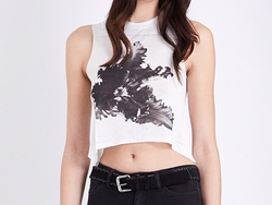 Tulipa Jersey Cropped T-Shirt by All Saints in The Flash