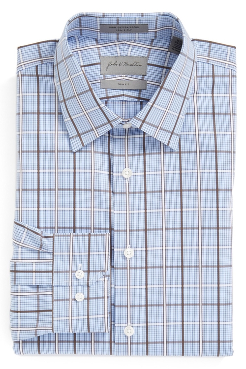 Trim Fit Plaid Dress Shirt by John W. Nordstrom in Scandal