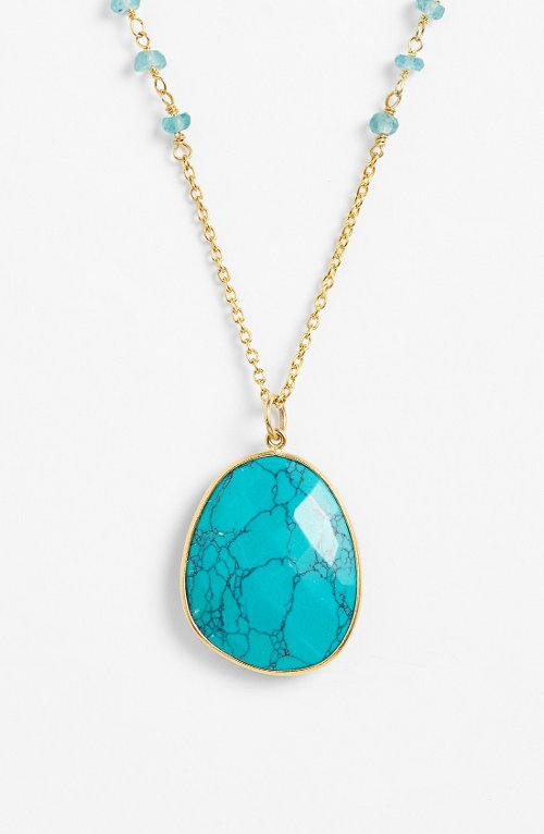 Beaded Stone Pendant Necklace by Argento Vivo in While We're Young