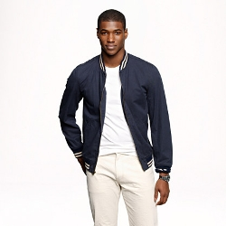 Wallace & Barnes Baseball Bomber Jacket in Japanese Cotton by J.CREW in Get Hard