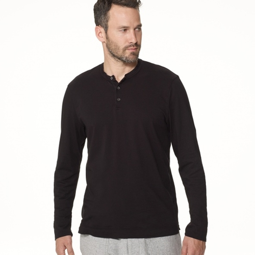 Brushed Cotton Henley Shirt by James Perse in The Last Witch Hunter