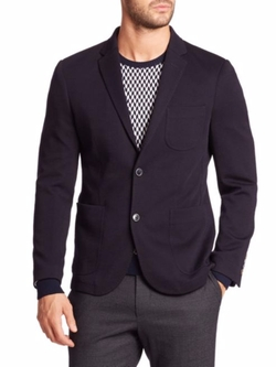Wool-Blend Knit Sport Jacket by Sand  in Empire