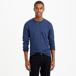 Long Sleeve Indigo T-Shirt by Wallace & Barnes in The Flash