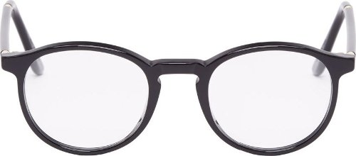 Black Polished Numéro 1 Optical Glasses by Super in Shutter Island