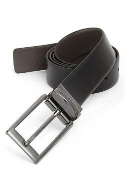 Reversible Leather Belt by Hugo Boss in Black or White