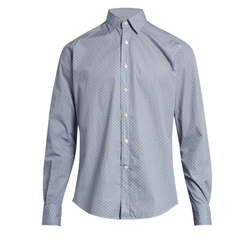 Kent Point-Collar Cotton Shirt by Glanshirt   in Scream Queens