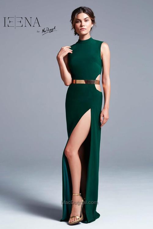 25008 Dress In Emerald Green by Ieena For Mac Duggal in The Bachelorette