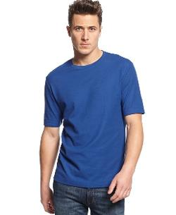 Short Sleeve Solid Performance Crew Neck T-Shirt by Club Room in Addicted