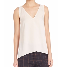 Narcyz V-Neck Silk Blouse by Theory in Quantico
