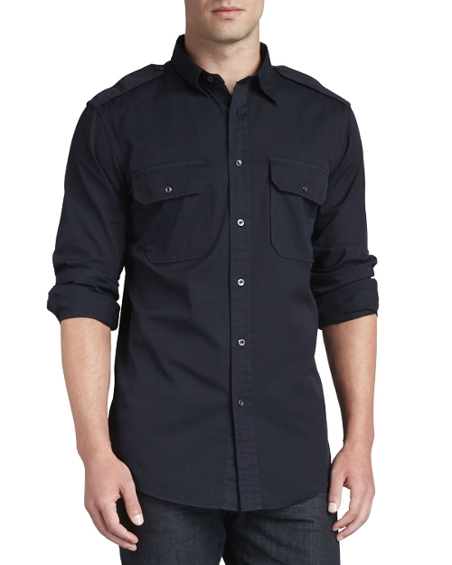 Casual Military Shirt by Ralph Lauren Black Label in The Gift