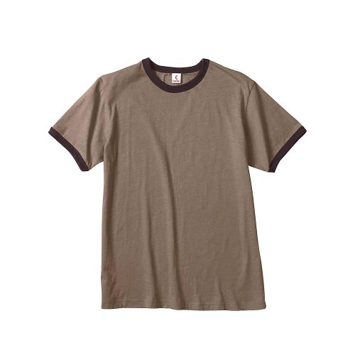 Short Sleeve Heather Ringer T-Shirt by Canvas in Kick-Ass