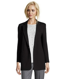 Knit Single-Button Boyfriend Blazer by Wyatt in The Vampire Diaries