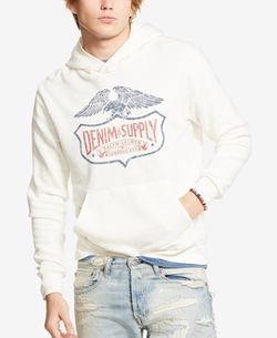 French Terry Graphic Hoodie by Denim & Supply Ralph Lauren in Hands of Stone