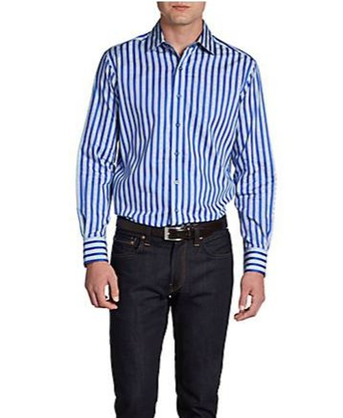 Corey Striped Cotton Sportshirt by Robert Graham in Savages