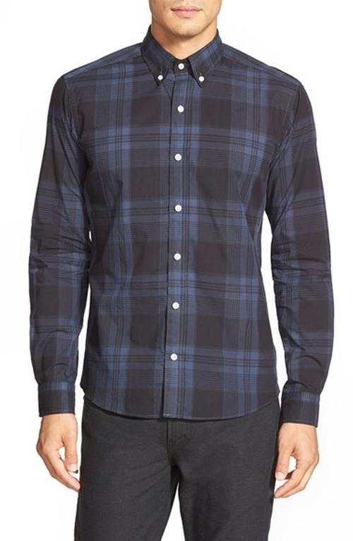 'Sanford' Slim Fit Sport Shirt by Bespoken in New Girl - Season 5 Episode 3