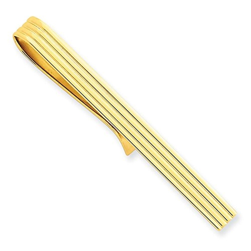 Yellow Gold Tie Bar Clip by Jewelry Pot in Legend