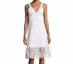 Tiana Sleeveless Lace Flounce Dress by Diane von Furstenberg in Jane the Virgin