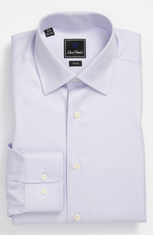 Trim Fit Dress Shirt by David Donahue in Begin Again