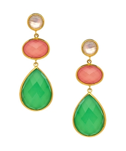 Kauai Chrysoprase Earrings by Julie Aylward in The Man from U.N.C.L.E.