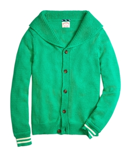 Shawl Collar Button-Front Cardigan by Brooks Brothers in Scream Queens
