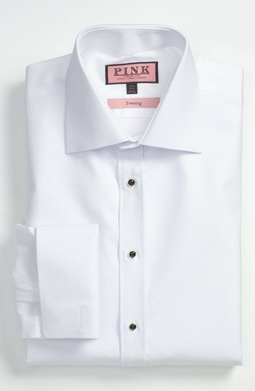 Slim Fit Tuxedo Shirt by Thomas Pink in The Matrix