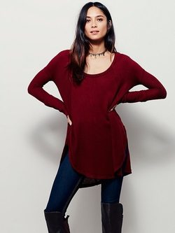 We The Free Ventura Thermal Sweater by Free People in New Girl