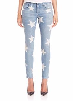 Star-Print Skinny Jeans by Stella McCartney in Mistresses
