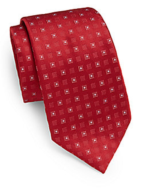 Square-Print Silk Tie by Valentino in Scandal