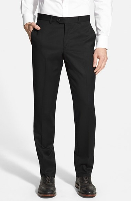 Flat Front Wool Trousers by Nordstrom in Crimson Peak