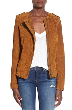 Suede Leather Jacket by BlankNYC in Quantico