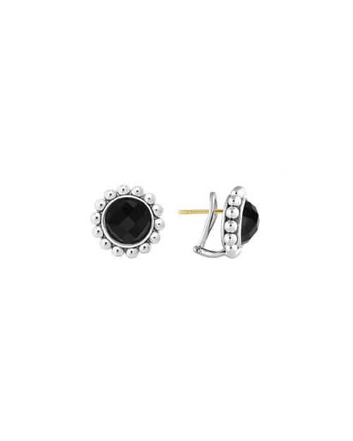 Black Onyx Stud Earrings by Lagos in Pretty Little Liars - Season 6 Episode 1