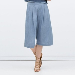 Chambray Culottes Casual Pants by Zara in Scream Queens
