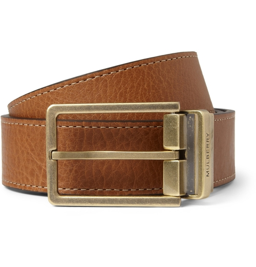 Reversible Full-grain Leather Belt by Mulberry in Rosewood - Season 1 Episode 2