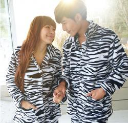 Thickening Coral Fleece Zebra Print Long-Sleeve Sleep Set Lounge Animal by Aliexpress in Dumb and Dumber To