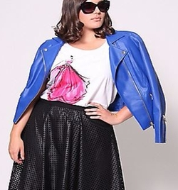 Perforated Leather Jacket by Christian Siriano in Empire