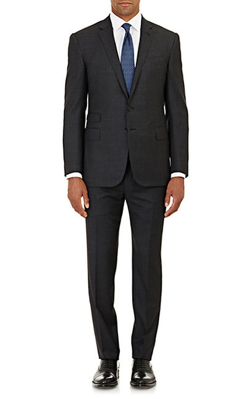 Birdseye Austin Two Button Suit by Ralph Lauren Black Label in Focus