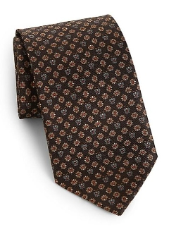 Silk Flower & Butterfly Print Tie by Salvatore Ferragamo in Self/Less