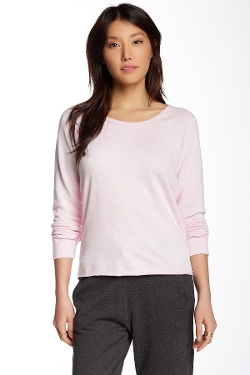 Lightweight Fleece Raglan Pullover Sweater by James Perse in The D Train